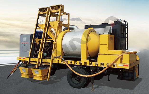 供应骏马牌JQS-150A 间歇强制搅拌双层滚筒沥青混合料再生机
