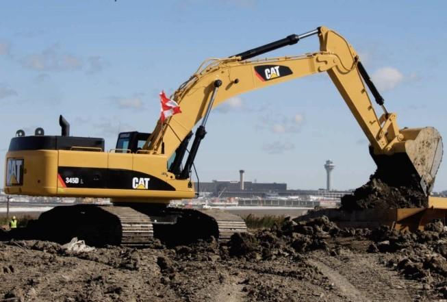 345D挖掘机