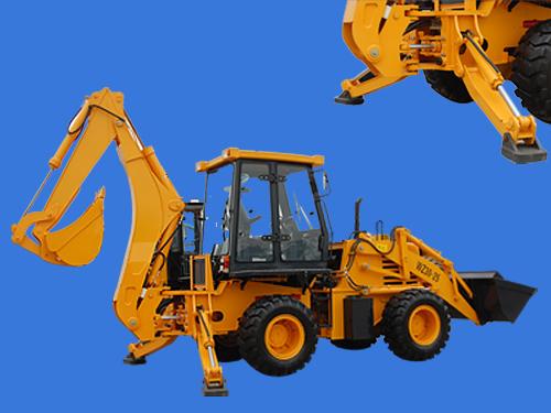 A字型斜支腿WZ30-25挖掘装载机